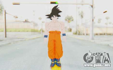 Dragon Ball Xenoverse Goku Shirtless SJ para GTA San Andreas segunda pantalla