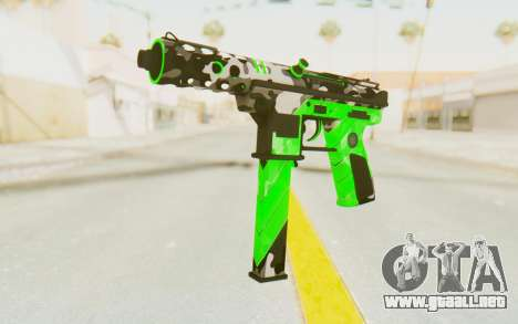 Tec-9 Neural Green para GTA San Andreas