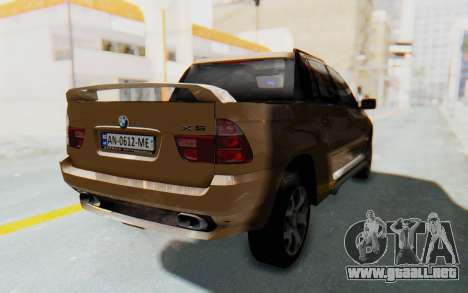 BMW X5 Pickup para GTA San Andreas vista posterior izquierda