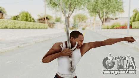 The Witcher 3: Wild Hunt - Sword v2 para GTA San Andreas tercera pantalla