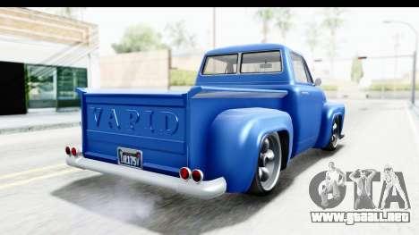 GTA 5 Vapid Slamvan without Hydro IVF para GTA San Andreas left
