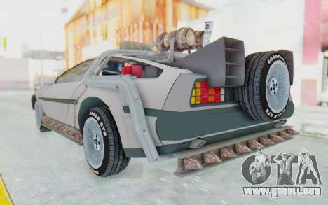 DeLorean DMC-12 2012 End Of The World para GTA San Andreas left