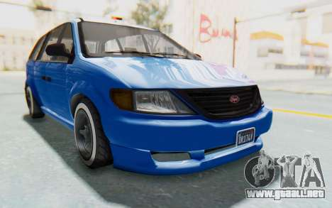 GTA 5 Vapid Minivan Custom para la visión correcta GTA San Andreas