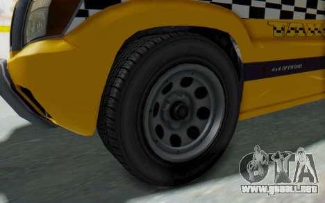 Canis Seminole Taxi para GTA San Andreas vista hacia atrás