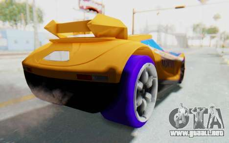 Hot Wheels AcceleRacers 4 para GTA San Andreas vista posterior izquierda