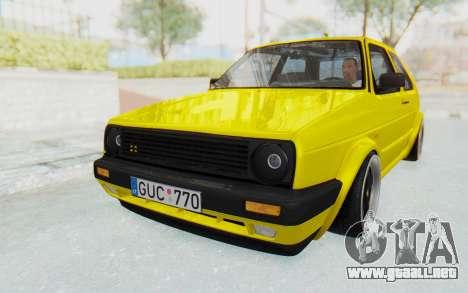 Volkswagen Golf Mk2 Lemon para GTA San Andreas