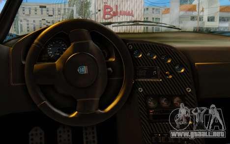 GTA 5 Grotti Cheetah SA Lights para GTA San Andreas vista hacia atrás