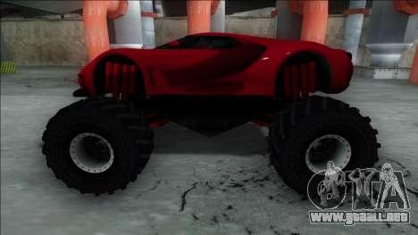 GTA V Vapid FMJ Monster Truck para la visión correcta GTA San Andreas