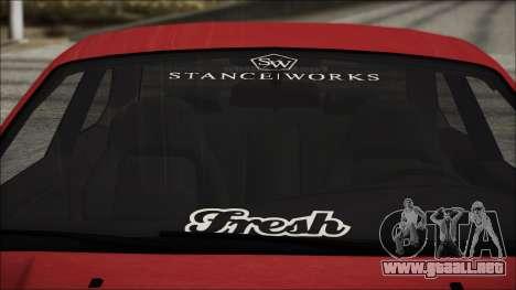 BMW E36 Stance para visión interna GTA San Andreas