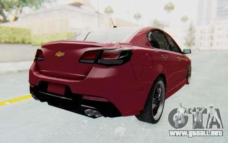 Chevrolet Super Sport 2014 para GTA San Andreas left