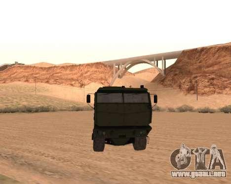 KAMAZ 63968 Tifón para GTA San Andreas vista hacia atrás
