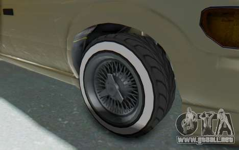 GTA 5 Vapid Minivan Custom without Hydro IVF para GTA San Andreas vista hacia atrás
