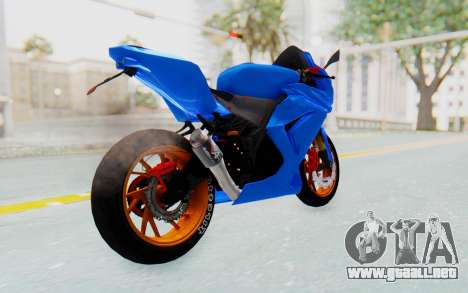 Kawasaki Ninja 250R Streetrace para GTA San Andreas vista posterior izquierda