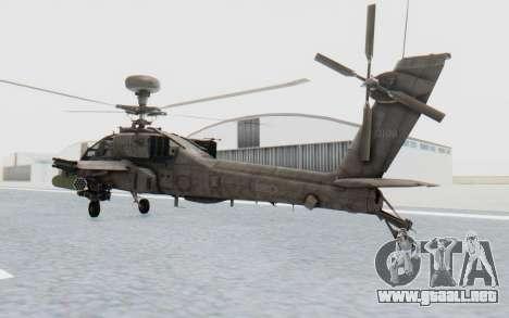 AH-64 Apache Desert para GTA San Andreas left