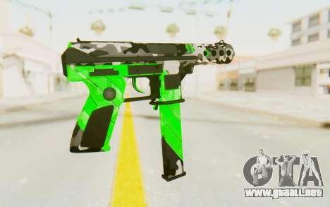 Tec-9 Neural Green para GTA San Andreas segunda pantalla