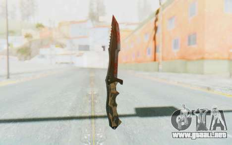 Huntsman Knife para GTA San Andreas segunda pantalla