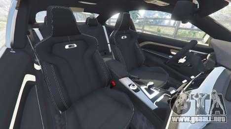 GTA 5 BMW M4 2015 v0.01 delantero derecho vista lateral