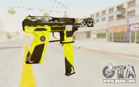 Tec-9 Neural Yellow para GTA San Andreas segunda pantalla