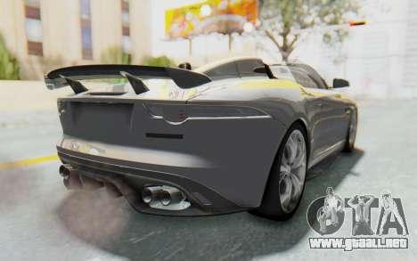 Jaguar F-Type Project 7 para GTA San Andreas left