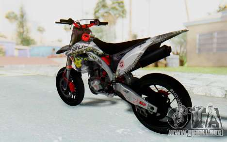 Kawasaki KX125 Supermoto v2 High Modif para GTA San Andreas left