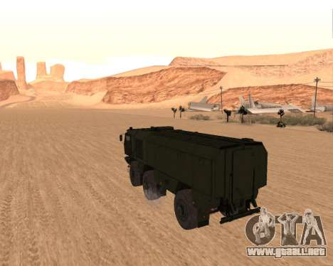KAMAZ 63968 Tifón para GTA San Andreas vista posterior izquierda