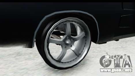 Dodge Charger Daytona F&F para GTA San Andreas vista hacia atrás