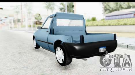 Ford Courier 2016 para GTA San Andreas vista posterior izquierda