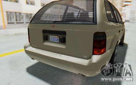 GTA 5 Vapid Minivan IVF para la vista superior GTA San Andreas