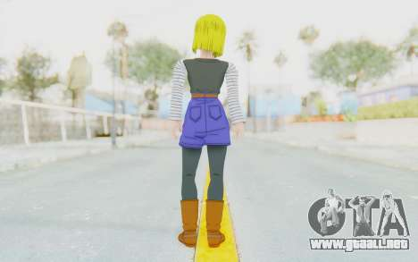 Dragon Ball Xenoverse Android 18 No Jacket para GTA San Andreas tercera pantalla