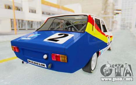 Dacia 1300 Rally para GTA San Andreas left