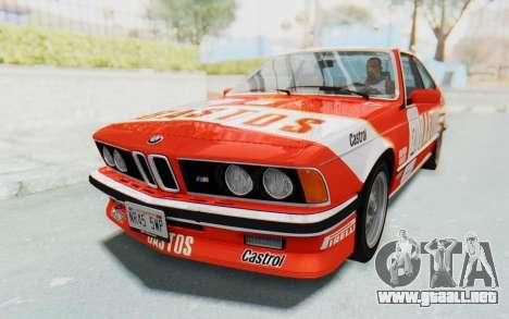 BMW M635 CSi (E24) 1984 IVF PJ3 para el motor de GTA San Andreas
