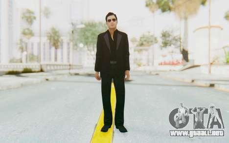 Mafia 2 - Vito Scaletta Madman Suit Black para GTA San Andreas segunda pantalla