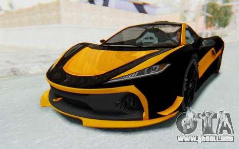 GTA 5 Progen T20 Devil PJ para el motor de GTA San Andreas