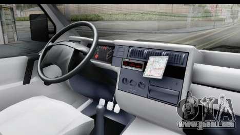 Volkswagen T4 para visión interna GTA San Andreas