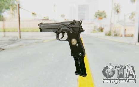 Tariq Iraqi Pistol Back v1 Silver Long Ammo para GTA San Andreas segunda pantalla