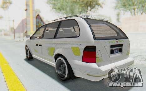 GTA 5 Vapid Minivan Custom para GTA San Andreas interior