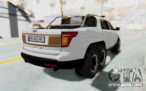Ford Explorer Pickup para GTA San Andreas left
