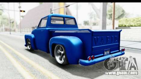 GTA 5 Vapid Slamvan Custom para GTA San Andreas left