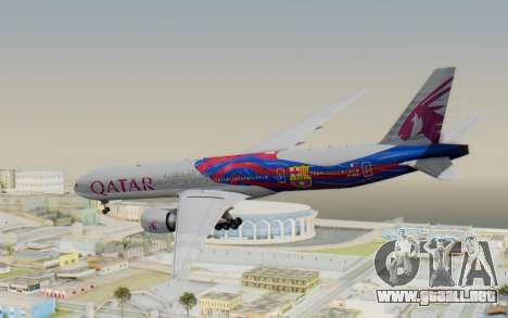 Boeing 777-300ER Qatar Airways v2 para GTA San Andreas left