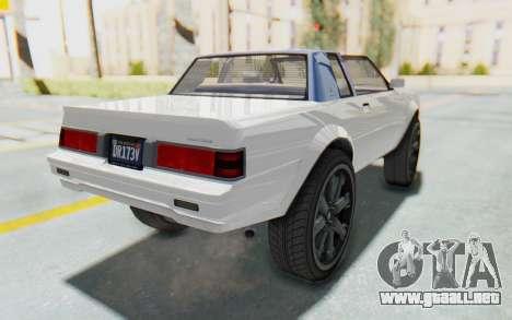 GTA 5 Willard Faction Custom Donk v2 para GTA San Andreas vista posterior izquierda