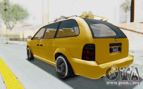 GTA 5 Vapid Minivan Custom IVF para GTA San Andreas left