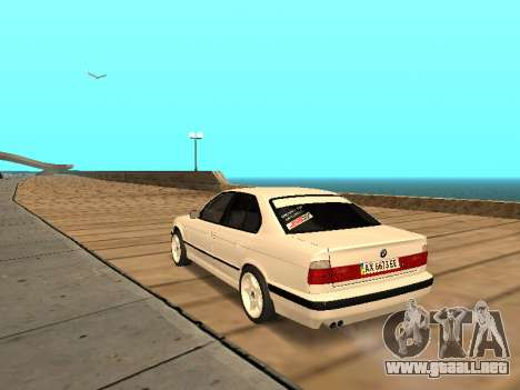 BMW E34 - EK edition para GTA San Andreas vista posterior izquierda