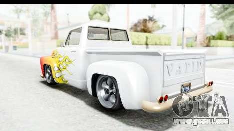 GTA 5 Vapid Slamvan without Hydro IVF para las ruedas de GTA San Andreas