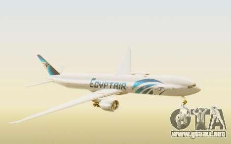 Boeing 777-300ER EgyptAir para GTA San Andreas vista posterior izquierda