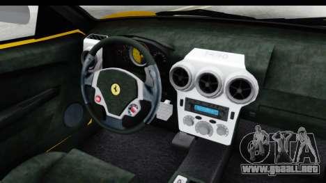 Ferrari F430 SVR para visión interna GTA San Andreas