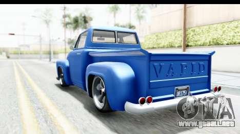 GTA 5 Vapid Slamvan without Hydro IVF para GTA San Andreas vista posterior izquierda