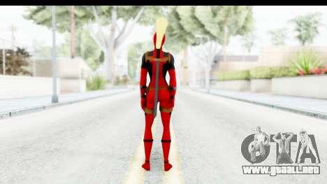 Marvel Heroes - Lady Deadpool para GTA San Andreas tercera pantalla