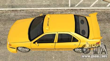 GTA 5 Taxi Peugeot 406 vista trasera