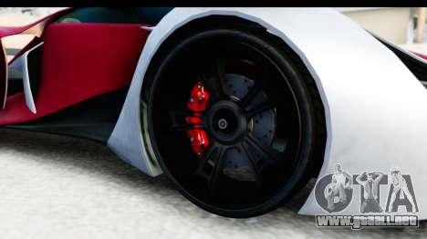 GTA 5 Grotti X80 Proto SA Lights para GTA San Andreas vista hacia atrás