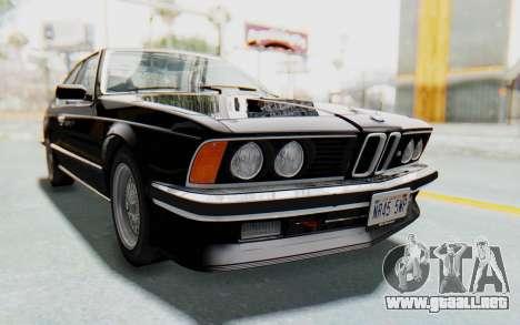 BMW M635 CSi (E24) 1984 IVF PJ3 para la visión correcta GTA San Andreas